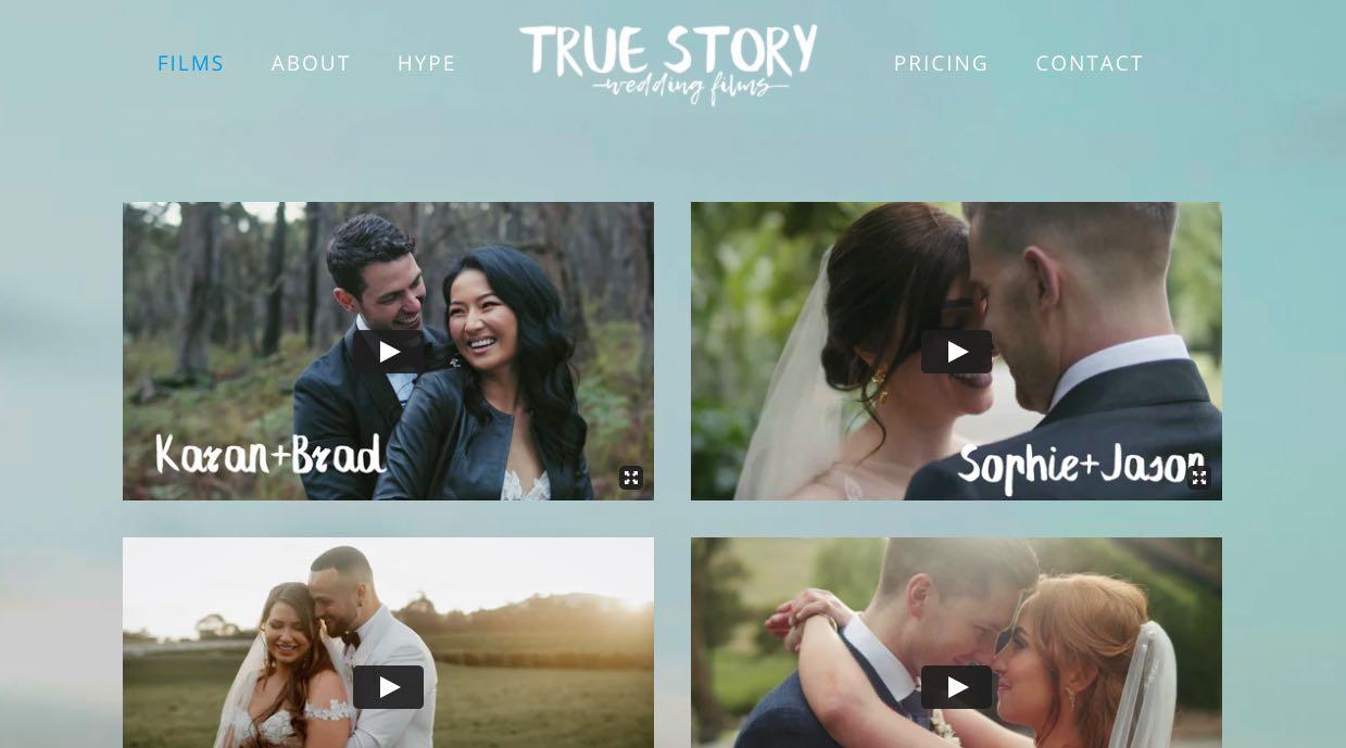 True Story wedding Videographer Mornington Peninsula