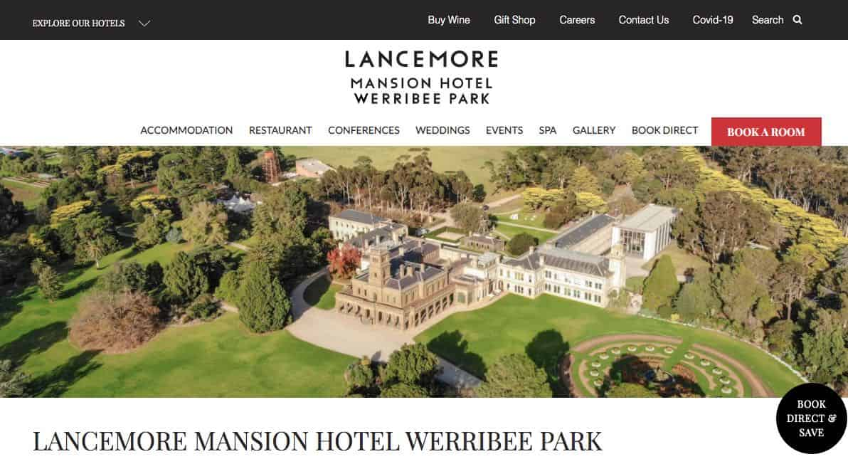 lancemore mansion hotel accommodation and hotel burwood melbourne