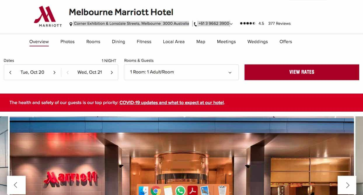 marriott hotel and accommodation burwood melbourne