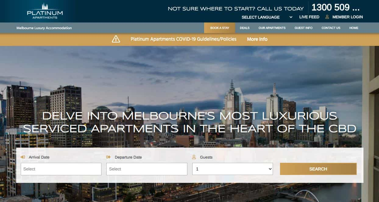platinum apartments accommodation and hotel brighton melbourne