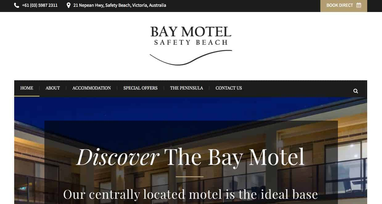 the bay motel beach and waterside wedding accommodation melbourne