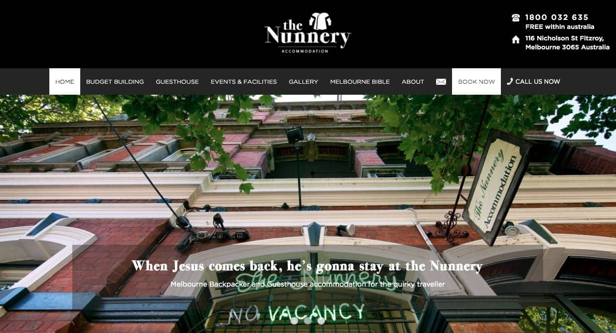 the nunnery accommodation and hotel burwood melbourne