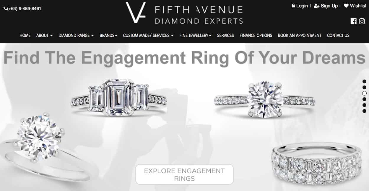 fifth avenue diamond experts wedding and engagement rings new zealand