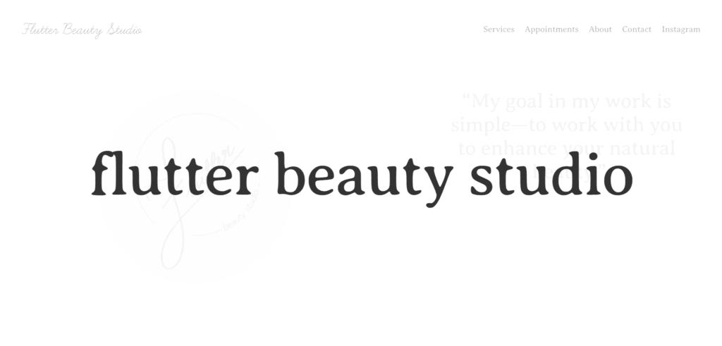 flutter beauty studio