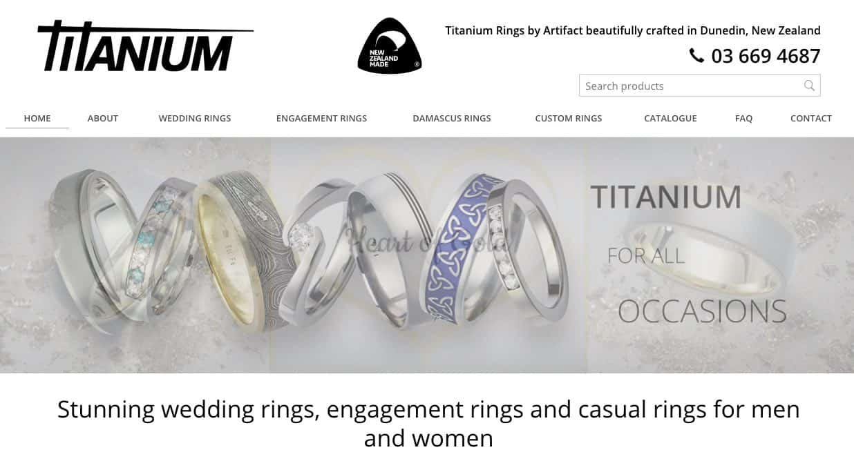 titanium rings by artifact wedding and engagement rings new zealand