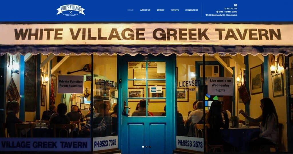 white village greek tavern
