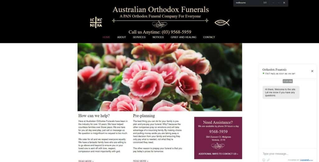 australian orthodox funerals