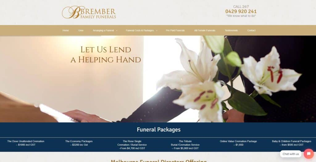brember family funerals