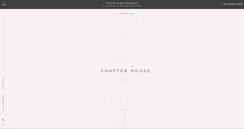 chapter house funerals