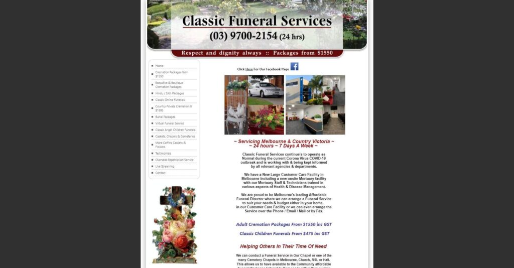 classic funeral services