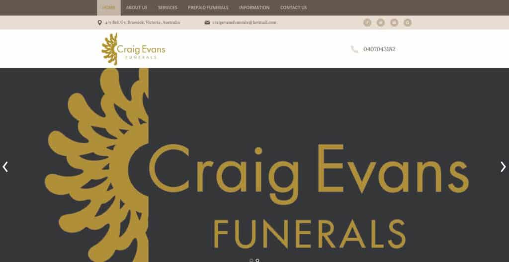 craig evans funerals