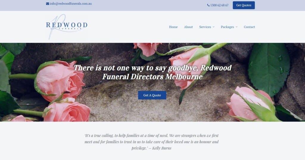 redwood funerals