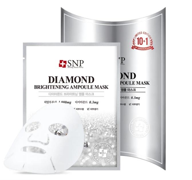 snp cosmetics skin brightening face mask