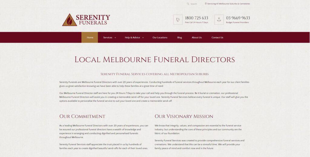 serenity funerals