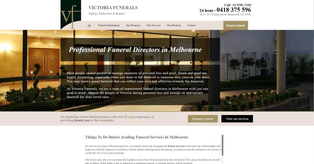 victoria funerals