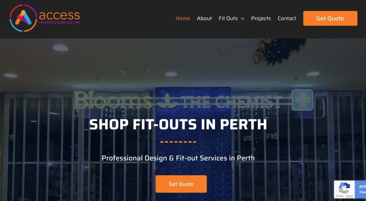 access projects and construction fit out companies in perth