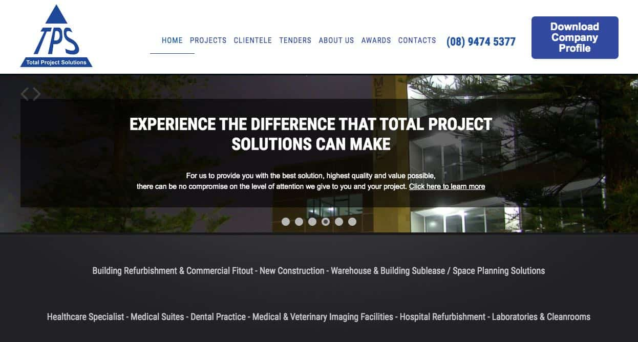 total project solutions fit out company perth